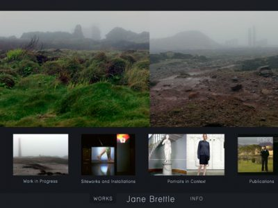 Website design for Jane Brettle: Artist