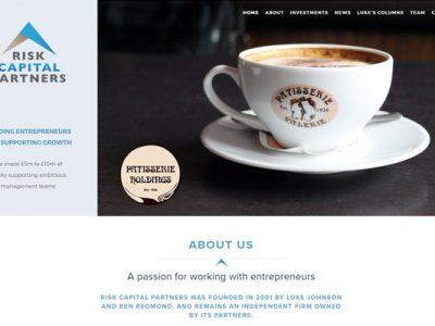 WordPress website for Risk Capital Partners